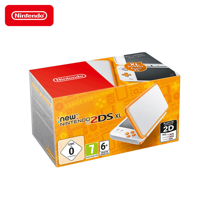 Game console NEW nintendo 2DS XL (white + orange) bluetooth fingertip pulse oximeter orange white 2 x aaa