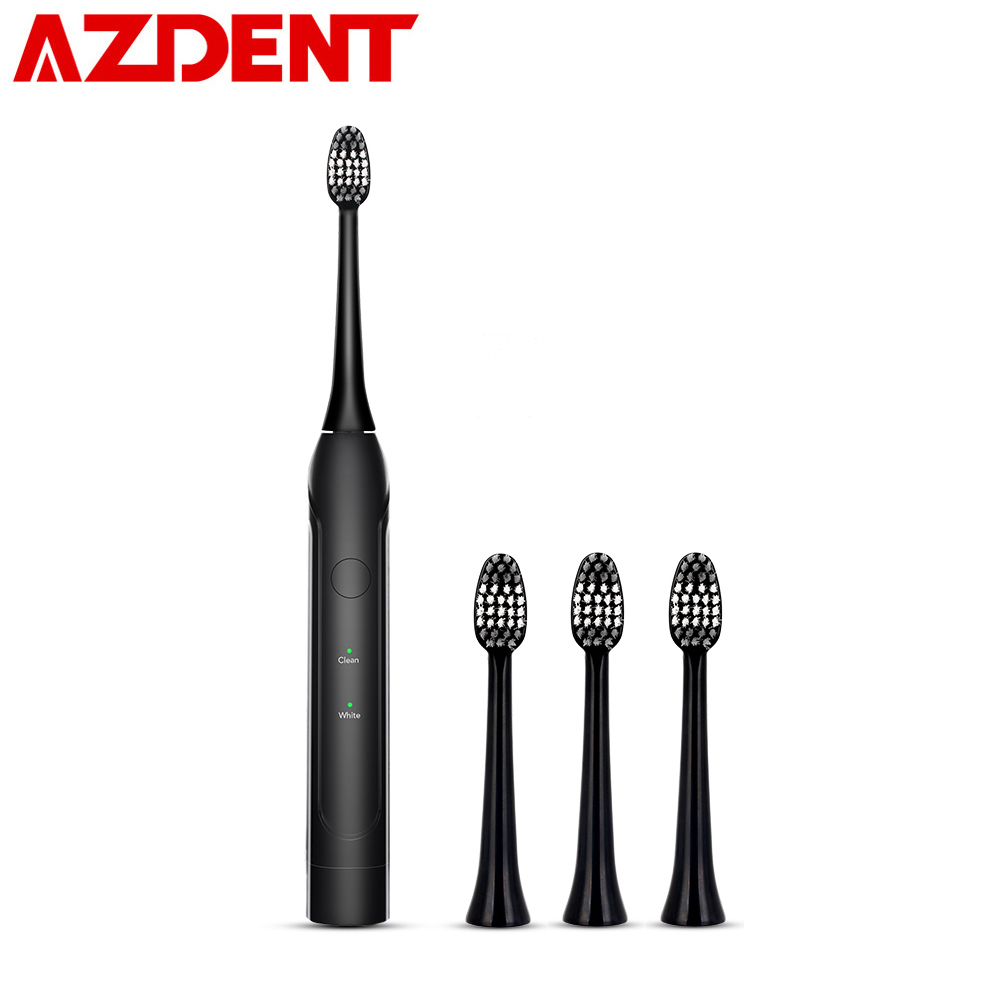 Advanced Sonic Electric Toothbrush Adult Timer Tooth Brushes No Rechargeable AA Battery with 4 Replacement Heads Deep Cleaning image