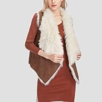 2017 Autumn Winter Warm Waistcoat Faux Fur Vest Lady Chic Gilet Sleeveless Jacket Fur Lined Outerwear