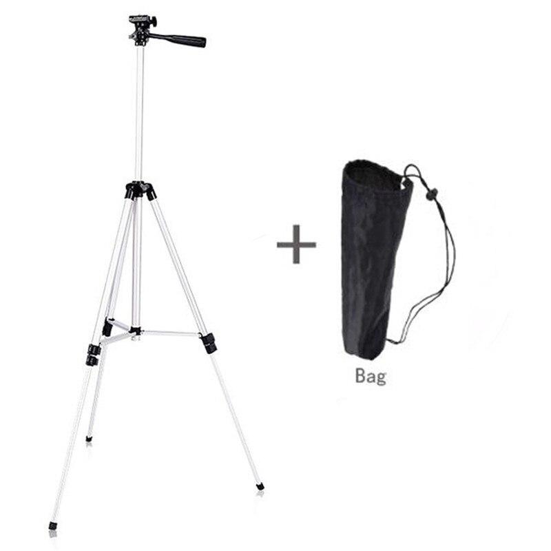 130 CM Portable réglable professionnel support de caméra trépied de téléphone Portable pour HUAWEI XIAOMI DSLR trépied avec sac de transport