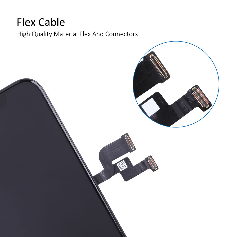 Elekworld Rigid Flexible OLED AAA Quality Tested Work Well LCDs For iPhone XS LCD Display 3D Touch Screen Digitizer Assembly