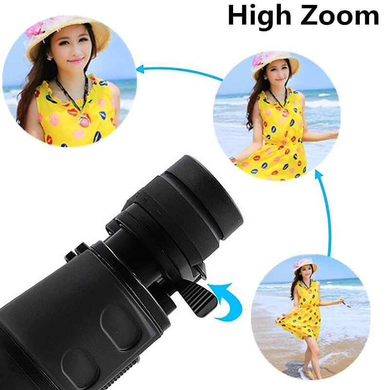 Image 5 - Long Range Zoom 10 80 times Watch Moon Folding Telescope Hunting HD Binoculars Camping Hiking Lll Night Vision Telescope Trip-in Monocular/Binoculars from Sports & Entertainment