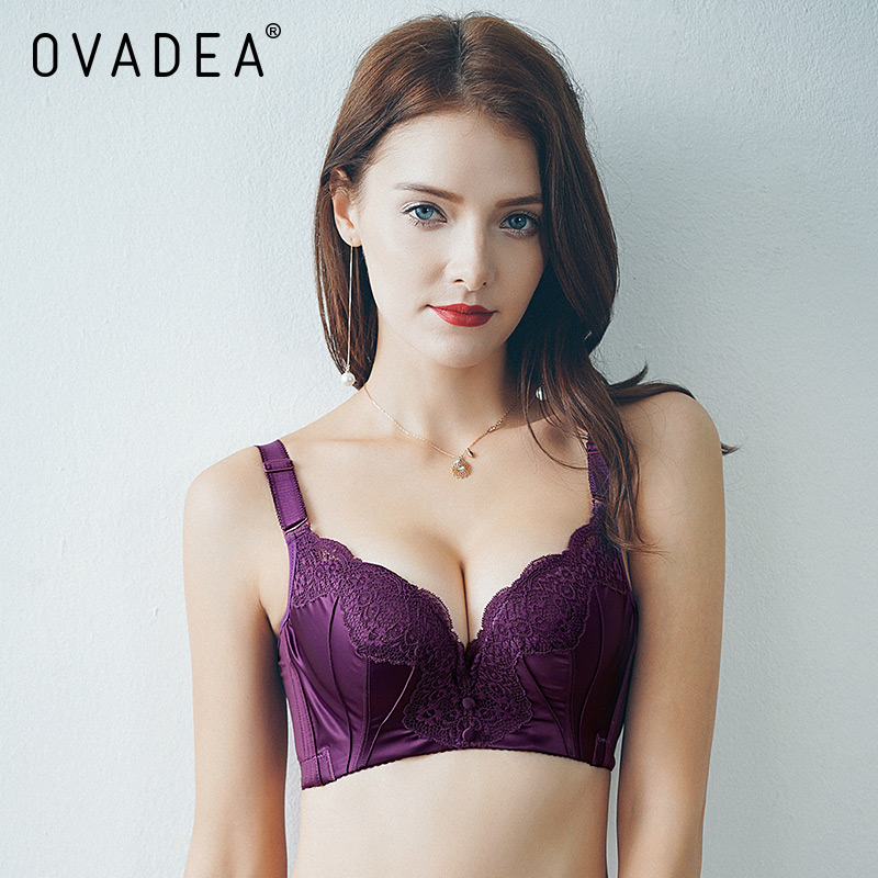 Ovadea Sexy Embroidery Floral Lace Solid Padded Push Up Bra  Cup Gather Adjustable Strap Cotton Bra New Sweet Girls Red Bra In Bras From Womens