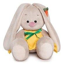 Мягкая игрушка Budi Basa Зайка Ми в желтом сарафане с морковой, 15 см