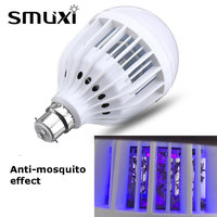 Smuxi E26 E27 B22 Mosquito Killer Lamp 5W 10W Bug Zapper LED Bulb Flying Insects Mosquito