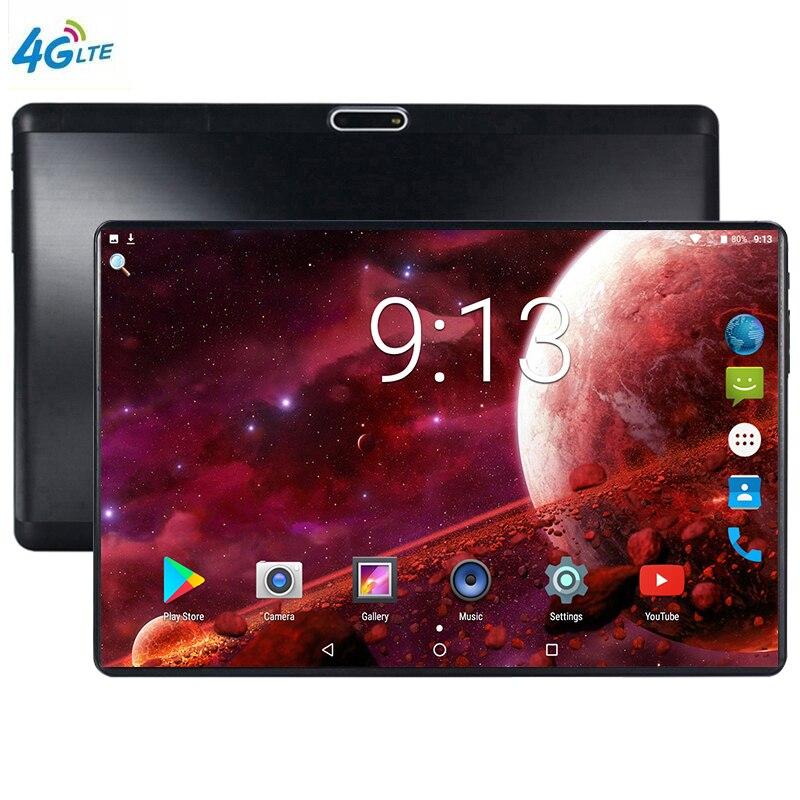 Date 10 pouces tablette PC Android 9.0 6 GB RAM 32 GB ROM Octa Core 8 cœurs double caméras 5.0MP 1280 800 IPS téléphone tablettes MTK6753