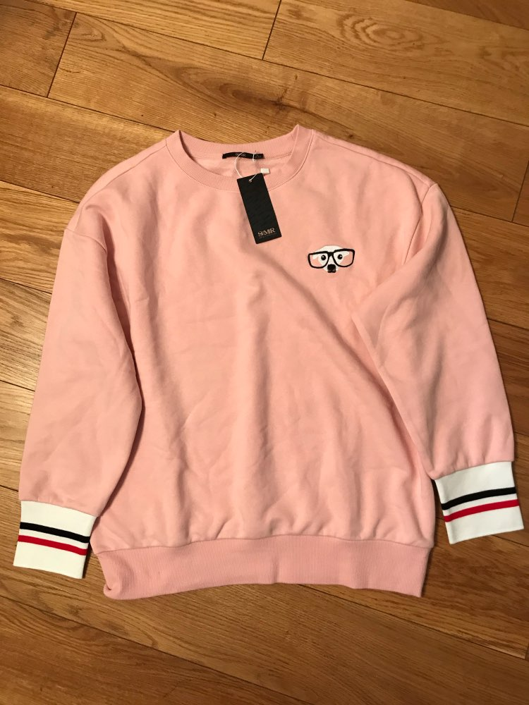 Hoodies Women Embroidered Sweatshirt Women Sport Pullover Sweatshirt With Contrasting Ribbed Cuff And Hem photo review