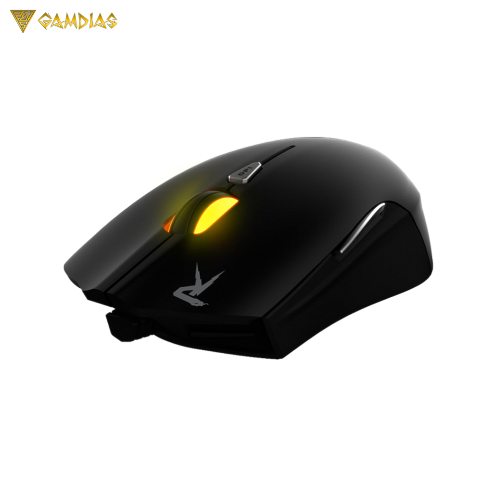 OPTICAL GAMING MOUSE GAMDIAS OUREA OPTICAL BLACK PC ESPORTS FPS MOBA oklick 725g dragon gaming optical mouse usb черно синяя