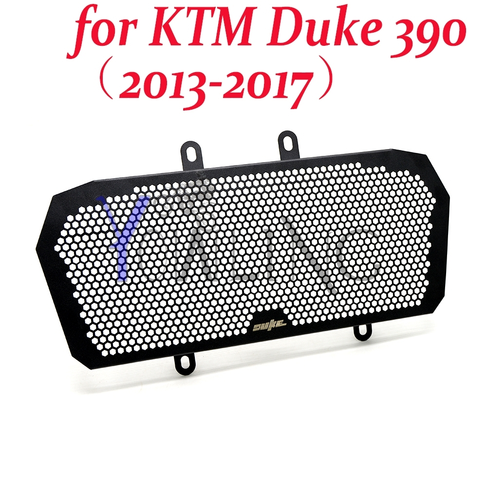 For KTM Duke 390 Motorcycle Aluminum Radiator Grill Guard Cover (2013 2014 2015 2016 2017) motorcycle front rider seat leather cover for ktm 125 200 390 duke