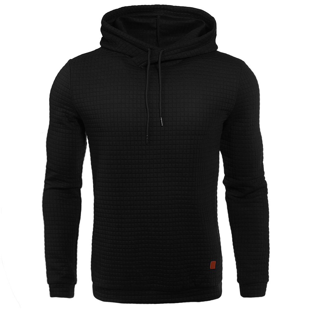Mens Long Sleeve Hoodies Black Color Hooded Sweatshirt Hoodie Tracksuit Sweat Casual Tops