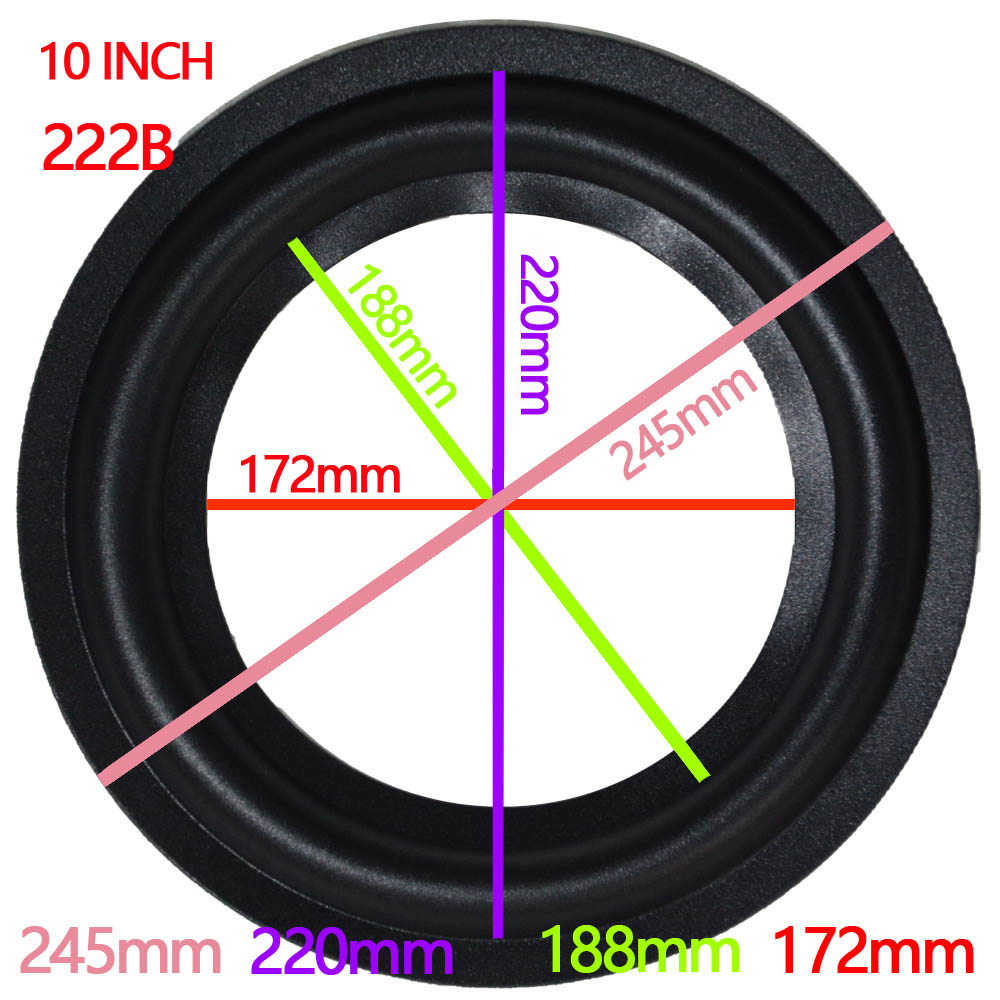 10inch 2pcs Perforated Rubber Speaker Foam Edge Surround Rings Replacement Parts For Speaker Repair Or DIY (Black)