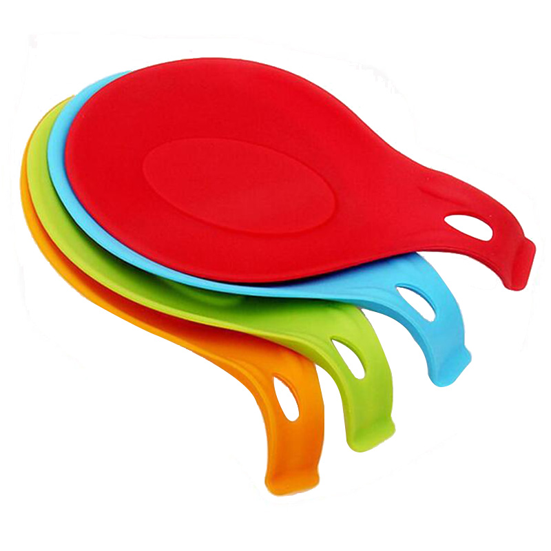 Spoon Silicone Holder Cooking Tool Rest Spatula Kitchen Resistant Utensil Pad