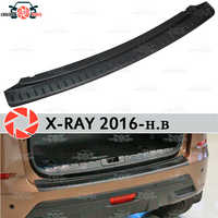 For Lada X-Ray 2016- guard protection plate on rear bumper sill car styling decoration scuff panel accessories