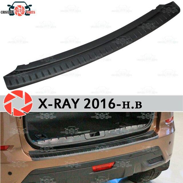 Для Lada X-Ray 2016-защитная пластина на Задняя накладка на бампер Стайлинг автомобиля украшение накладка панели аксессуары