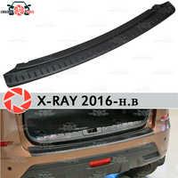 Para Lada X-Ray 2016-guarda bumper sill placa de proteção na parte traseira do carro styling acessórios de decoração painel de chinelo
