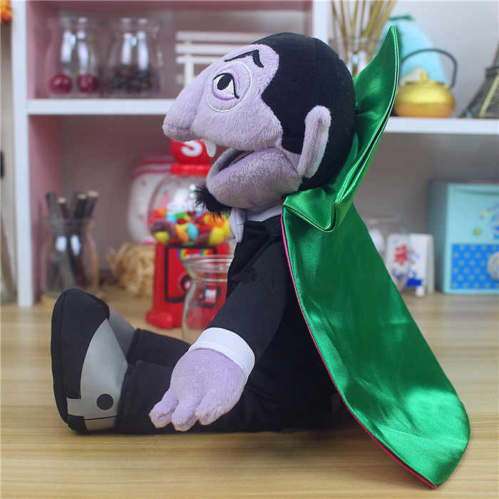 Sesame Street The Count Von Count Plush Toy Earl Of Vampire Stuffed Toys Birthday Presents For Children Christmas Dolls