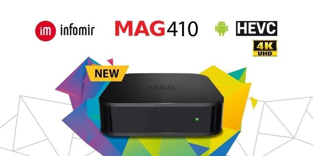 NEW Infomir MAG410 MAG 410 UHD 4K Video IPTV OTT Streamer BOX Android with 1 Month IPTV Free Service