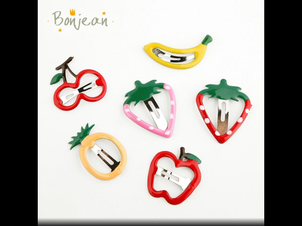 6 pieces/a lot Fruits Kids Party Gifts Hairgrips Girls Cute Hair Clip Ice cream Hairpin Hair Accessories