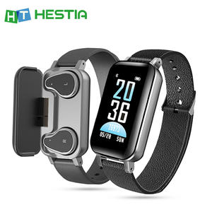 T89 TWS AI Smart Watch With Bluetooth Earphone Heart Rate Monitor Smart Wristband