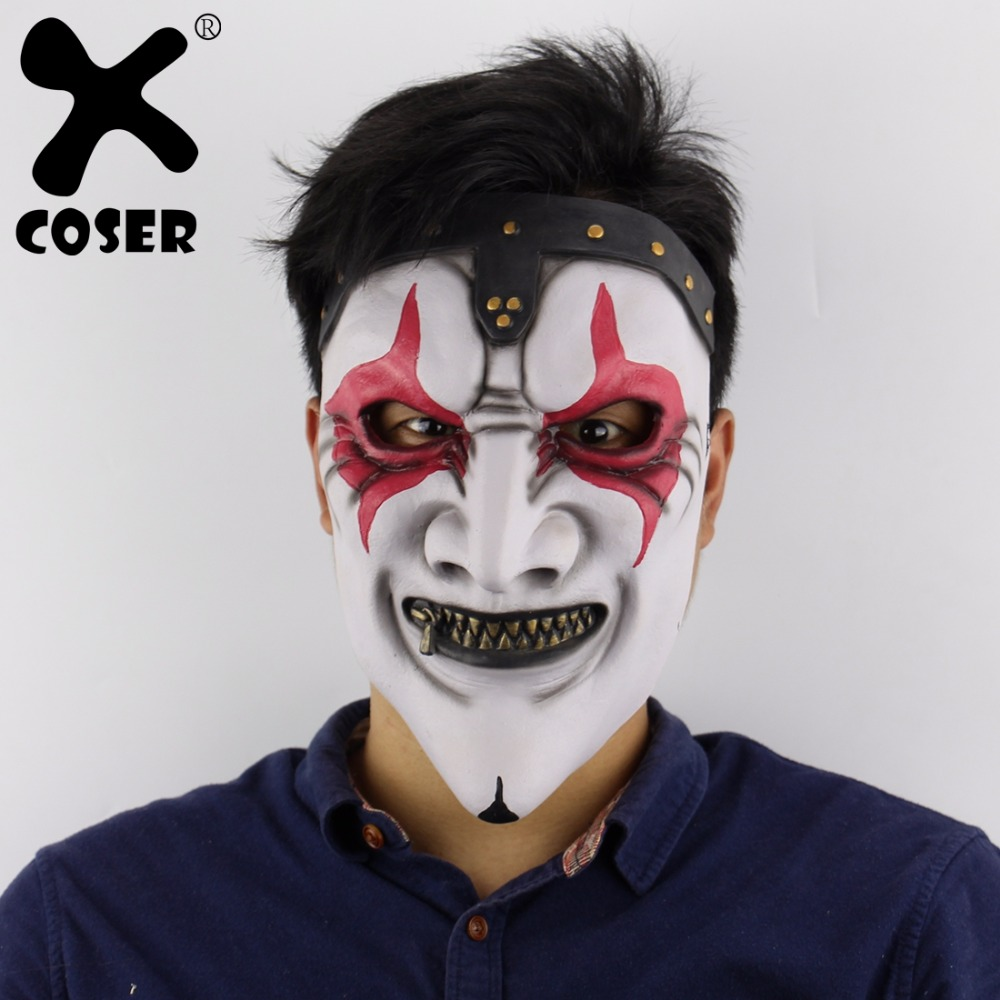 XCOSER Cheap Promotion Slipknot Band James Zipper Mouth Mask Halloween Horror Scary Haunted House Layout Live Mask