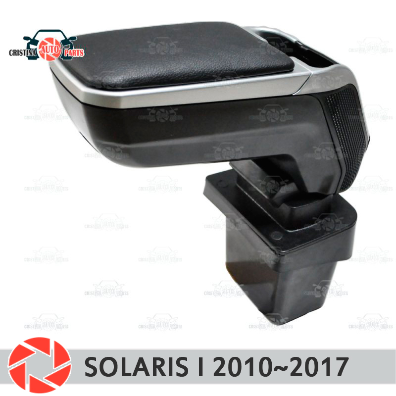 Armrest for Hyundai Solaris 2010~2017 car arm rest central console leather storage box ashtray accessories car styling vst daytime running lights drl led car styling brand new left