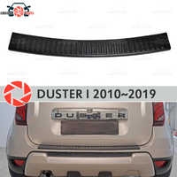 Guard protection plate on rear bumper for Renault Duster 2010-2019 sill car styling decoration scuff panel accessories molding
