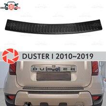 Защитная пластина на задний бампер для Renault Duster 2010-2019 подоконник автомобиля для укладки Украшения scuff панель аксессуары Молдинг