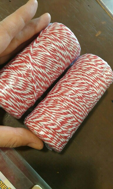 High Quality 1 Roll 100 Metres 2Ply Cotton Bakers Twine String Cord Rope Rustic Country Craft 16 Colors AA7644
