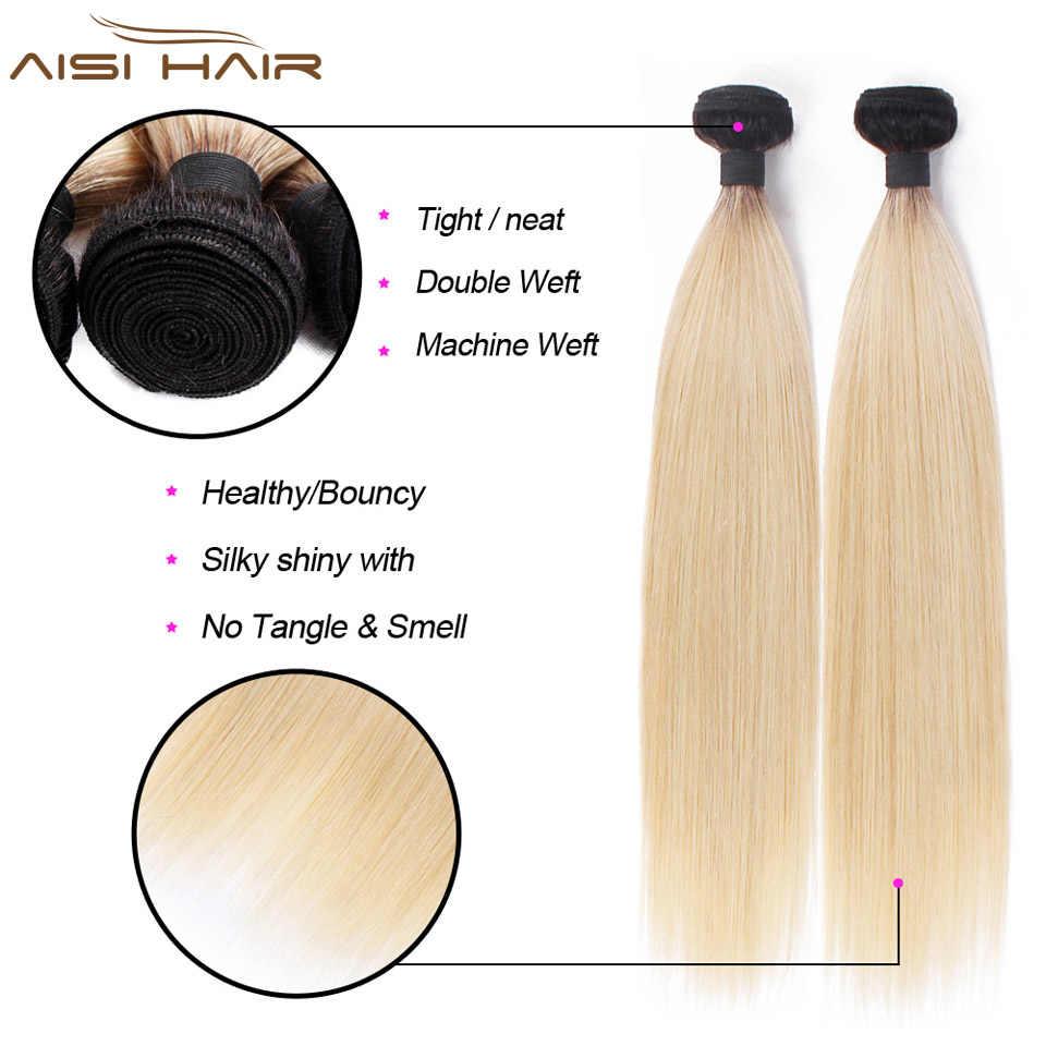 Листы нержавеющей стали холодного проката AISI волос эффектом деграде (переход от темного к русые перуанские прямые волосы пучки эффектом деграде (переход от темного к 1B/613 1/3/4 Связки Non-Волосы remy 100% Пряди человеческих волос для наращивания