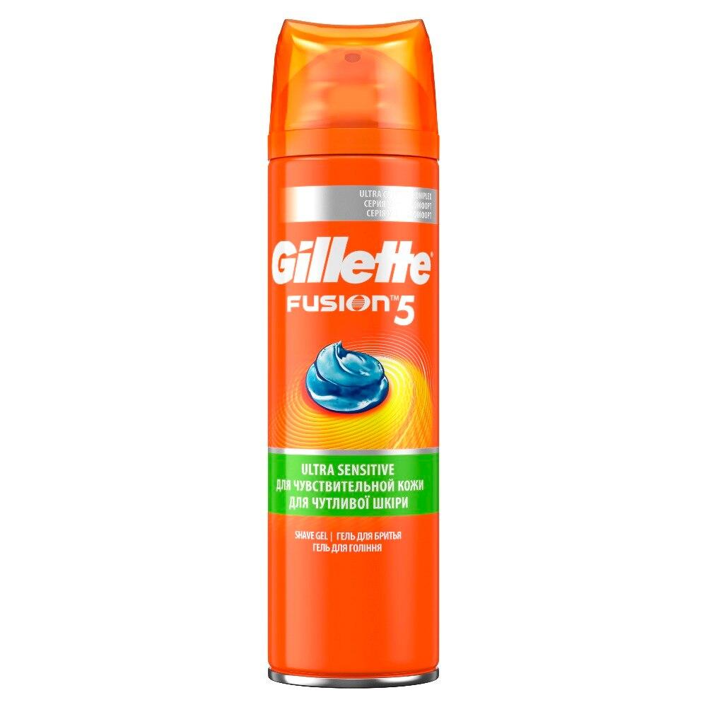 Gellette Fusion Shaving Gel For Sensitive Skin, 200 Ml shaving gel gillette mach3 for sensitive skin 200 ml