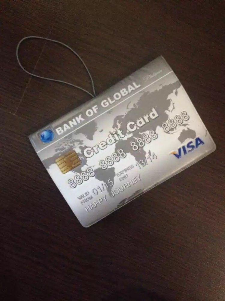 BANK OF GLOBAL! VISA creditcard Paspoort Houder, 3D Ontwerp PVC Leer Reis ID Kaarthouder Paspoort Cover 14 * 10CM photo review