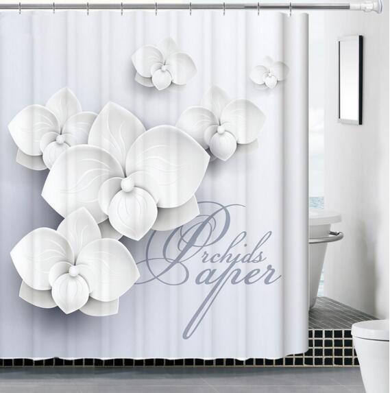 Solide Petal Blätter Duschvorhang Romantische Bad Vorhänge Stoff Badezimmer Set  Mit Haken 180x180 Cm Kostenlose