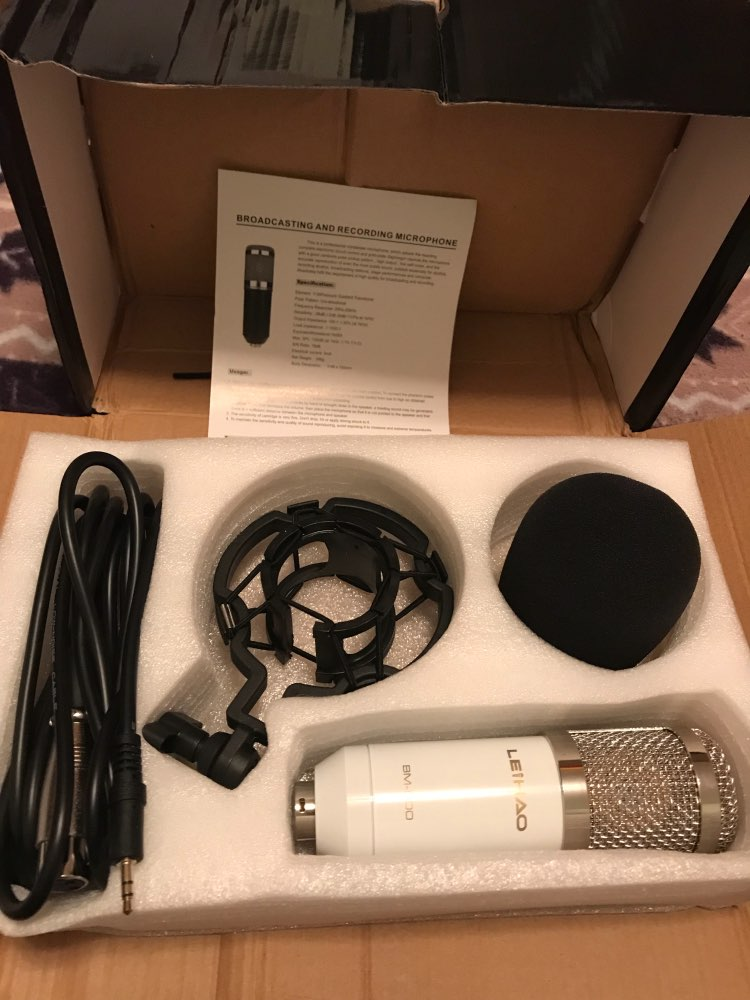 Leihao BM-800 bm800 динамический конденсаторный микрофон проводной Микрофон Звук Studio для пения Запись комплект КТВ караоке с шок крепление