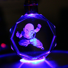 Dragon Ball Z Crystal Keychain 7 colors LED