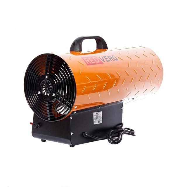 Пушка тепловая газовая RedVerg RD-GH50 (Максимальная тепловая мощность 50 кВт, Поток воздуха 650 м3/час, Тип топлива пропан/бутан, расход топлива 3,36 кг/час)
