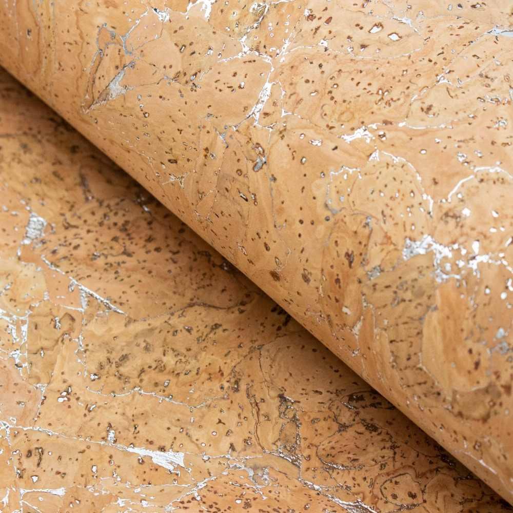 โปรตุเกส cork ผ้า 68x50 เซนติเมตร/135x100cmNatural เงิน Cork ผ้ามังสวิรัติกันน้ำทนต่อการขัดถูผ้า COF-186