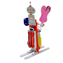 educational DIY toy Electric Rocking Fan Robot