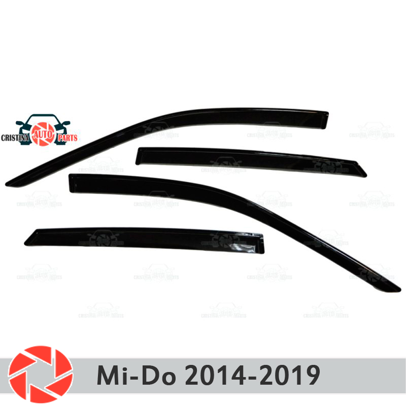 Window deflector for Datsun Mi-do 2014~ rain deflector dirt protection car styling decoration accessories molding дефлекторы на окна voron glass samurai datsun mi do 2014 н в комплект 4шт def00814