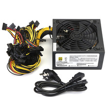 1300W Max Mining Case ATX Power Supply Support 12 Graphics Card 8 SATA IDE Dedicated Power