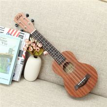 "Zebra 21"" 15 Frets Mahogany Soprano Ukulele Uke 4 Strings Electric Bass Guitar Guitarra For Musical Stringed Instruments"