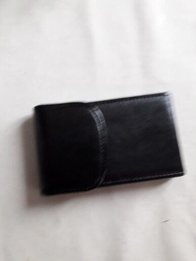Gloednieuwe 2019 Fashion lederen Bedrijfsnaam ID Creditcard Mini Box Pocket Portemonnee Case Houder visitekaartjes gift groothandel photo review