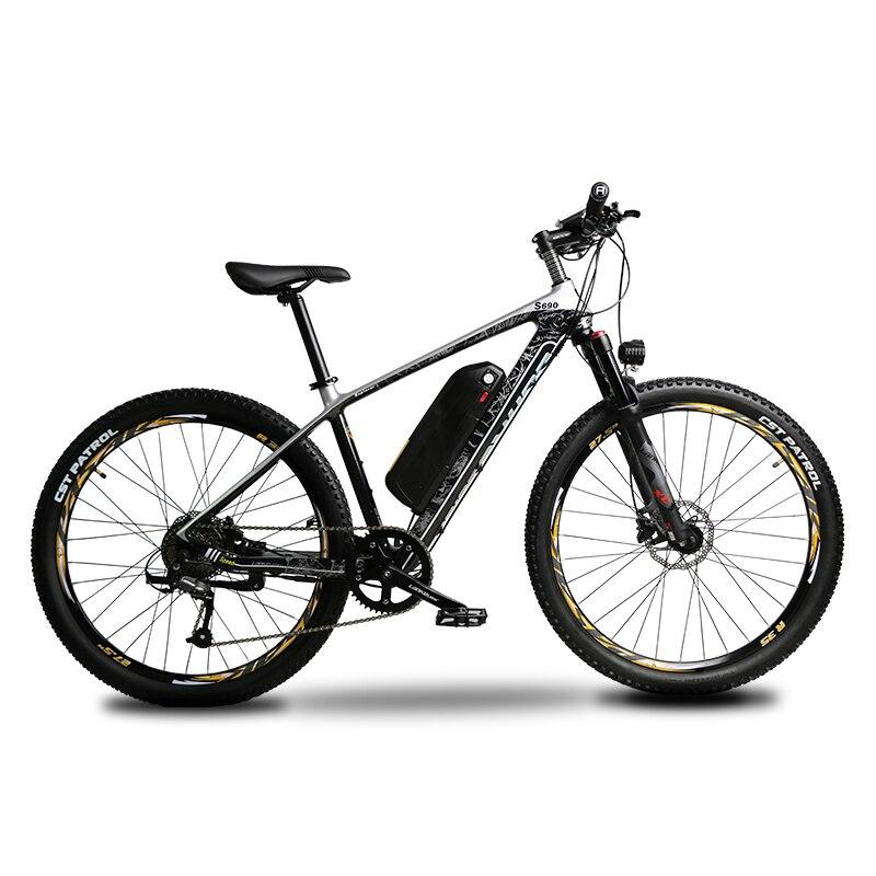 S690 Torque-Pedal System Electric Mountain Bike Carbon Fiber e-bike 500W48V 16ah Lithium Battery 9 Speeds Hydraulic Disc Brakes