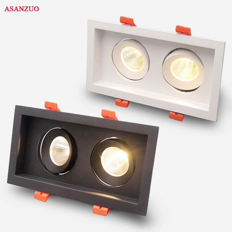 High Quality LED COB Recessed Square Downlight 6W 10W 16W 20W LED Spot Lamp Dimming Rotating Ceiling Lamp Home Decor AC85-265V free shipping 20w cob adjustable led downlight recessed gimbal down lamp commercial supermarket ceiling lamp ac85 265v