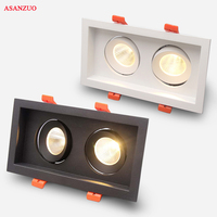 High Quality LED COB Recessed Square Downlight 6W 10W 16W 20W LED Spot Lamp Dimming Rotating Ceiling Lamp Home Decor AC85 265V