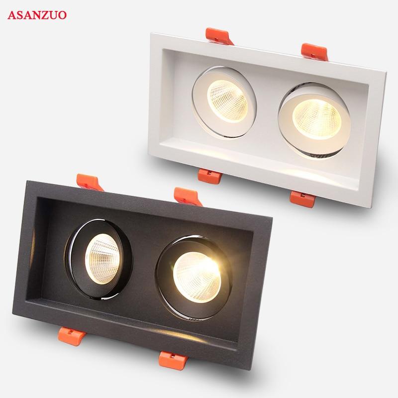 Qualité supérieure led COB Encastré Downlight Carré 6 W 10 W 16 W 20 W led lampe spot Gradation Rotation plafonnier décoration d'intérieur AC85-265V