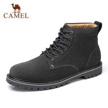 Men's Boots Short Shoes Men Suede Autumn Winter Fashion Non-Slip CAMEL Soft Pigskin Ankle