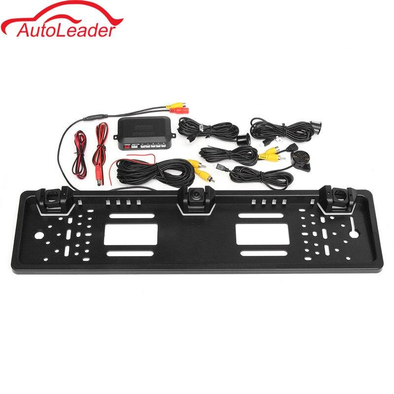 ЕС Европейская Автомобильная Лицензия CCD камера заднего вида пластина рамка парковочная камера реверсивный радар парковочные датчики