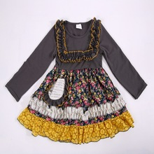 2017 Fall Lace Infant Baby Girl Dress Mustard Yellow Or Grey Clothing The Last Hot Discount Sale Apparel Accessory