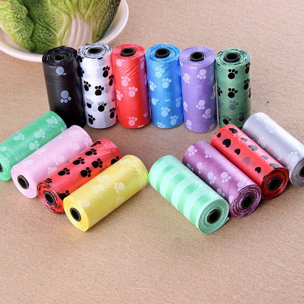 10Roll Hot Sale Degradable Pet Dog Waste Poop Bag With Printing Doggy Bag