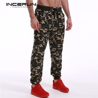 Mens Joggers 2017 Brand Trousers Men Track Pants Casual Baggy Camouflage Army Cargo Workout Pants Men